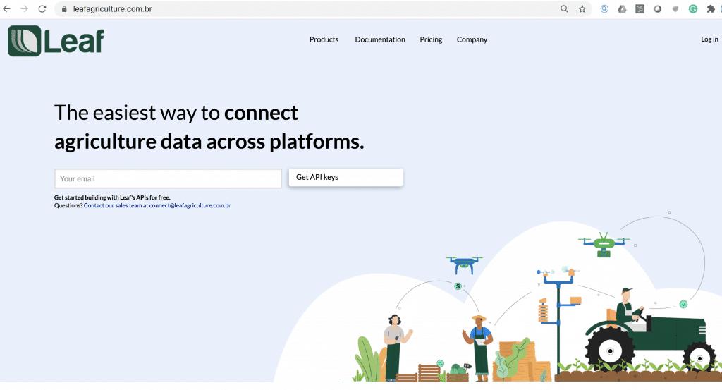 Leaf Agriculture API platform creating larger ecosystem